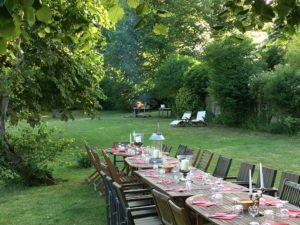Jardin de la maison d'hôtes de Senlis